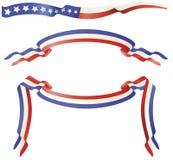 Patriotische rote weiße blaue Fahnen Lizenzfreies Stockbild