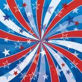 Patriotische Strudel mit Sternen Stockfotos