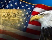 Patriotische Symbole - die Vereinigten Staaten von Amerika Stockbilder