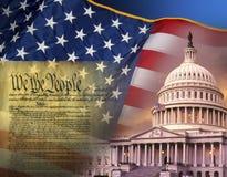 Patriotische Symbole - die Vereinigten Staaten von Amerika Stockbild