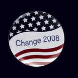 Patriotische Wählerabzeichentaste Stockfotos