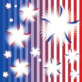 Patriotische wirbelnde Sterne Stockfoto