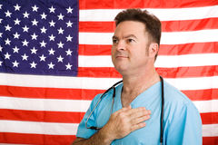 Patriotischer amerikanischer Doktor Lizenzfreies Stockfoto