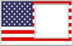 Patriotischer Bilderrahmen Lizenzfreies Stockbild