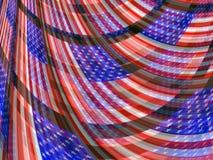 Patriotischer flüssiger Hintergrund abstrakter USA-amerikanischer Flagge Lizenzfreie Stockfotos