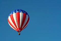 Patriotischer Heißluft-Ballon Stockbild