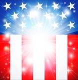 Patriotischer Hintergrund der amerikanischen Flagge Stockbilder
