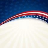 Patriotischer Hintergrund des Unabhängigkeitstags Stockfotografie