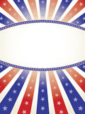 Patriotischer Hintergrund mit ovalem Exemplar-Platz vektor abbildung