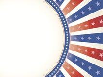 Patriotischer Hintergrund mit ovalem Exemplar-Platz Stockbild