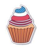 Patriotischer kleiner Kuchen lokalisiertes Ikonendesign Stockfotos
