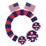 Patriotischer Kreis-Rahmen Stockfoto