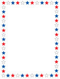 Patriotischer Rand Stockbild
