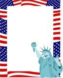 Patriotischer Rand lizenzfreie abbildung