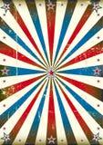 Patriotischer Sonnenstrahlweinlesehintergrund Stockfotografie