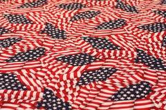 Patriotischer USA-Hintergrund - amerikanische Flaggen Lizenzfreie Stockfotografie