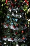 Patriotischer Weihnachtsbaum in Fort Myers, Florida, USA stockbild