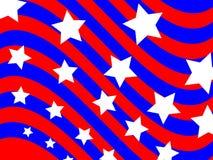 Patriotischer Wellen-Hintergrund Stockfotos