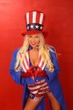 Patriotisches Mädchen Lizenzfreie Stockbilder