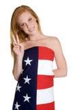 Patriotisches Mädchen Lizenzfreies Stockfoto