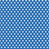 Patriotisches nahtloses Muster von Weiß-Sternen auf blauem Hintergrund Lizenzfreie Stockfotos
