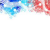 Patriotisches Titeldesign Vereinigter Staaten Stockfotos