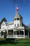 Patriotisches viktorianisches Haus Stockfotografie