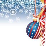 Patriotisches Weihnachten Stockfotografie