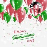 Patriotisk affisch för Kenya vektor retro självständighet för bakgrundsdaggrunge stock illustrationer