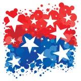 patriotisk amerikansk bakgrund Arkivbilder