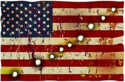 Patriotisk amerikanska flaggan Fotografering för Bildbyråer