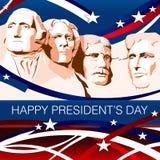 Patriotisk bakgrund för presidentdag Arkivbild