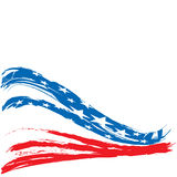 Patriotisk bakgrundsdesign för Förenta staterna Royaltyfria Bilder