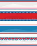 patriotisk banertitelrad Arkivbild