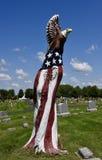 Patriotisk död trädkonst Royaltyfria Bilder