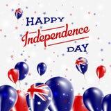 Patriotisk design för Australien självständighetsdagen Fotografering för Bildbyråer