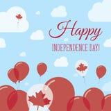 Patriotisk design för Kanada självständighetsdagenlägenhet Royaltyfri Fotografi
