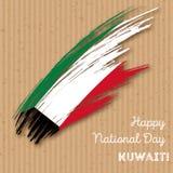 Patriotisk design för Kuwait självständighetsdagen Arkivbild