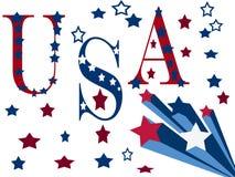 patriotisk designillustration Arkivbilder