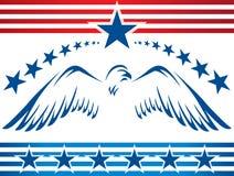 Patriotisk eagle_banner Arkivbild