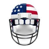 Patriotisk fotbollhjälm - USA-flagga Arkivfoton
