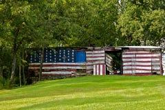 patriotisk hydda arkivbild