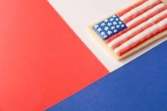Patriotisk kaka för 4th Juli Royaltyfri Bild