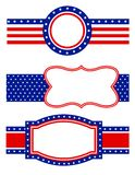 patriotisk kant Arkivbild