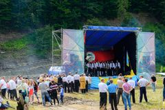 Patriotisk konsert Yavorina i västra Ukraina royaltyfri fotografi