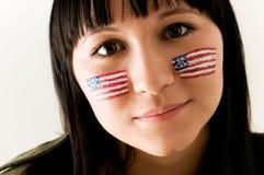 patriotisk kvinna Fotografering för Bildbyråer