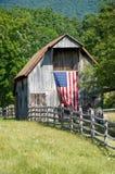 patriotisk ladugård Royaltyfri Bild