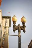Patriotisk lampa Arkivbild