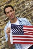 patriotisk man Arkivfoton