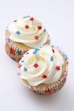patriotisk muffin Royaltyfri Bild